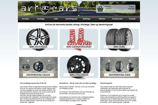 ArtCars - Alufælge, dæk og sænkningssæt
